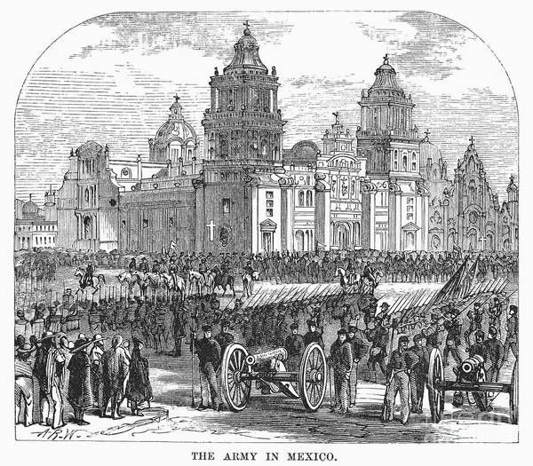 1847 Poster featuring the photograph Mexico City, 1847 by Granger
