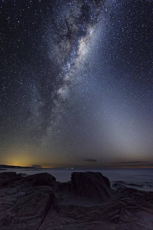 Milky Way Poster featuring the photograph Milky Way Over Cape Otway, Australia by Alex Cherney, Terrastro.com