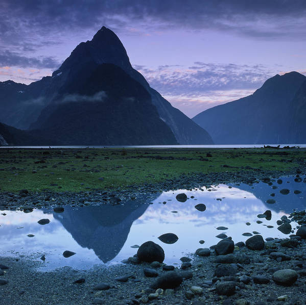 Horizontal Poster featuring the photograph Mitre Peak by Atan Chua