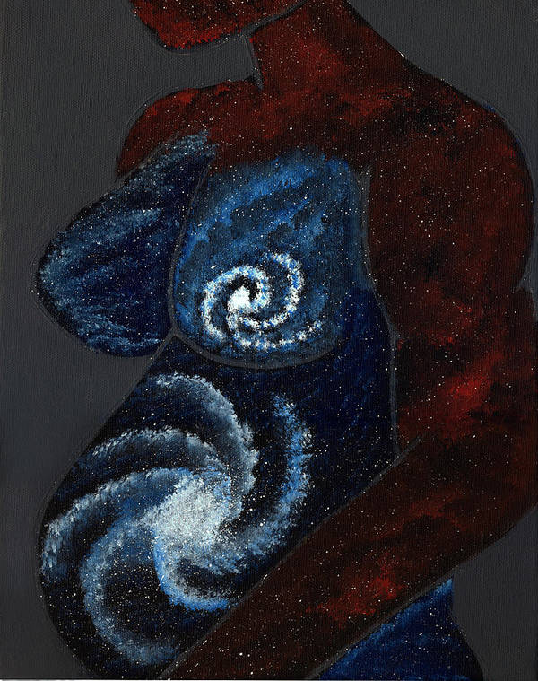 Mother Poster featuring the painting Mother Universe by Lisa Orban