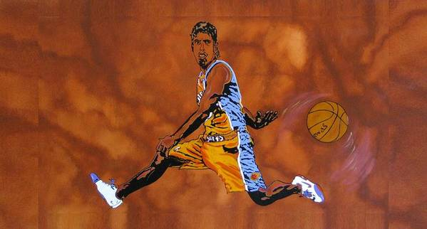 Sports Poster featuring the painting Mr Assist Steve Nash by Bill Manson