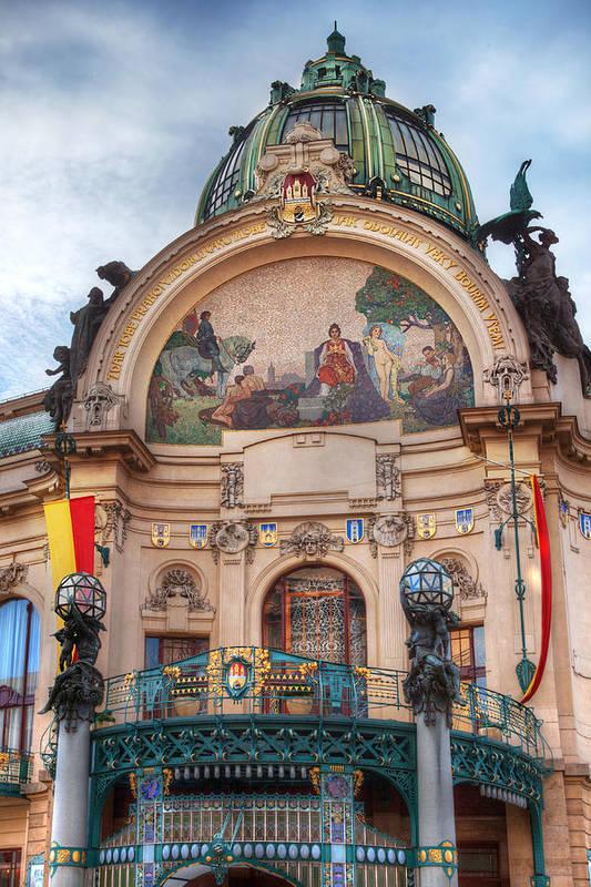 Prague Poster featuring the photograph Municipal House-prague by John Galbo