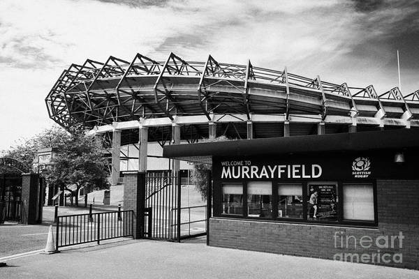 Murrayfield Poster featuring the photograph Murrayfield Stadium Edinburgh Scotland Uk United Kingdom by Joe Fox