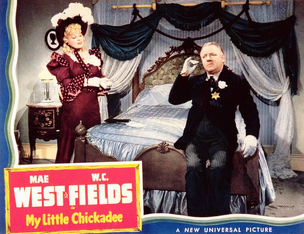 1940 Movies Poster featuring the photograph My Little Chickadee, From Left Mae by Everett