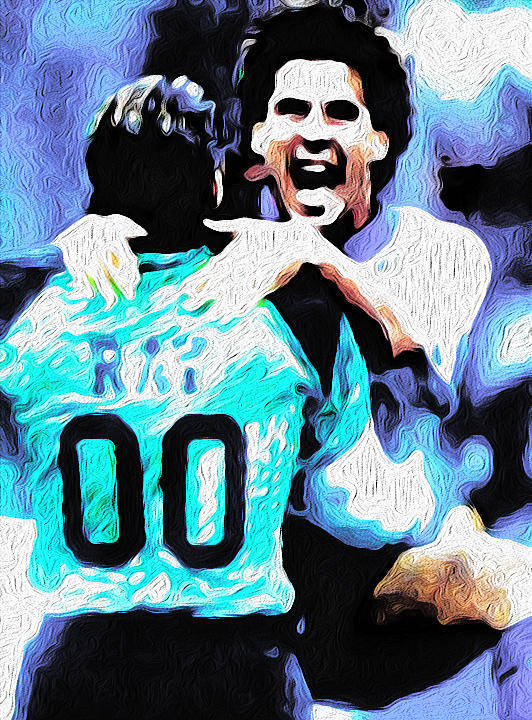 Soccer Poster featuring the mixed media Nicolas Nixo Soccer by Nicolas Nixo