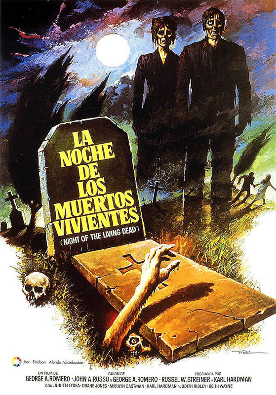 1960s Movies Poster featuring the photograph Night Of The Living Dead, Spanish by Everett