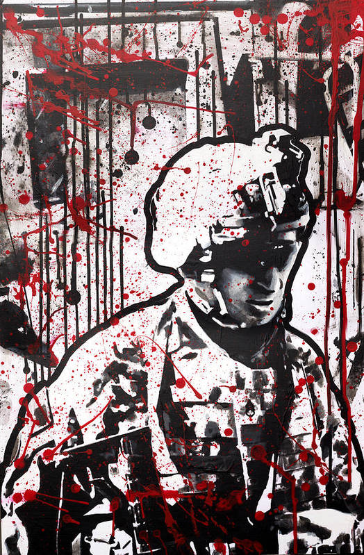 101st Airborne Poster featuring the painting No Slack by Michael Figueroa