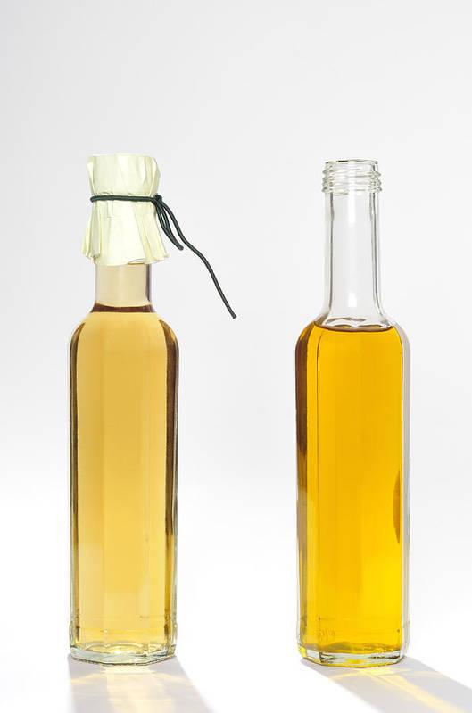 Balsamic Vinegar Poster featuring the photograph Oil And Vinegar Bottles by Matthias Hauser