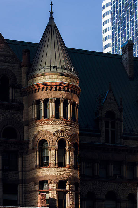 Architecture Poster featuring the photograph Old City Hall Turret by Matt Trimble