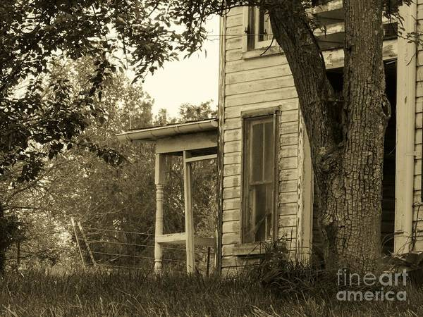 Abandoned Poster featuring the photograph Old Country Porch by Joyce Kimble Smith