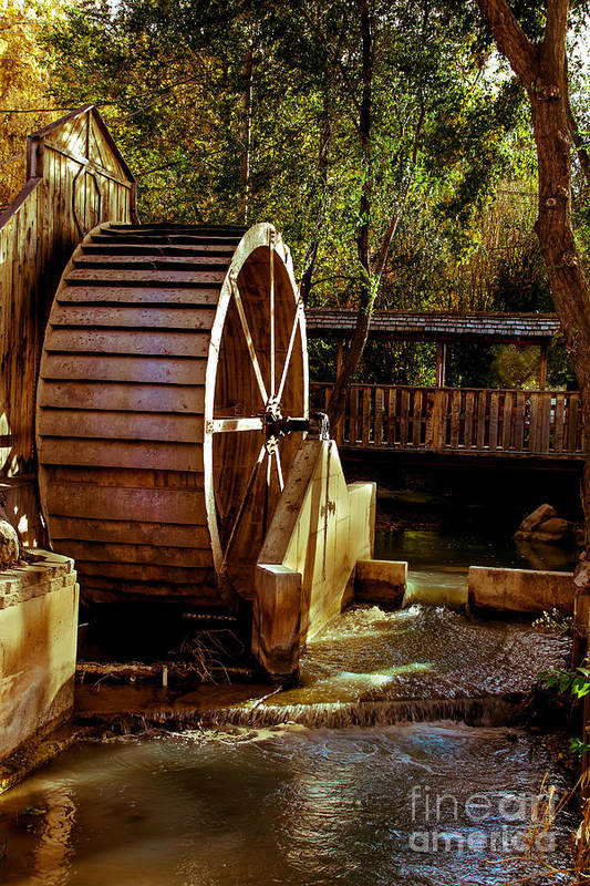 Water Wheel Poster featuring the photograph Old Mill Park Wheel by Robert Bales