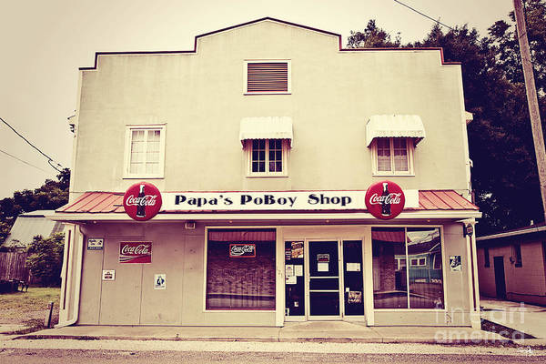 Napoleonville Poster featuring the photograph Papa's Poboy's by Scott Pellegrin