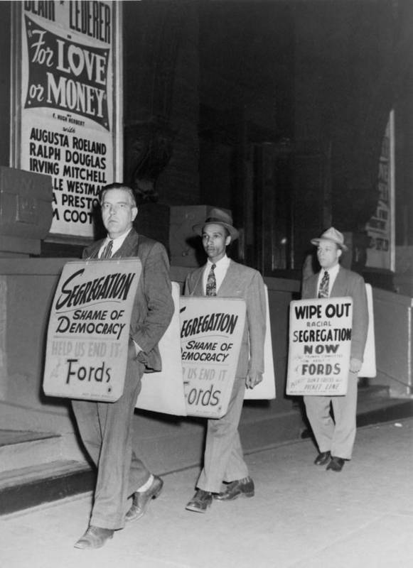 History Poster featuring the photograph Pickets Protest In Front Of Baltimores by Everett
