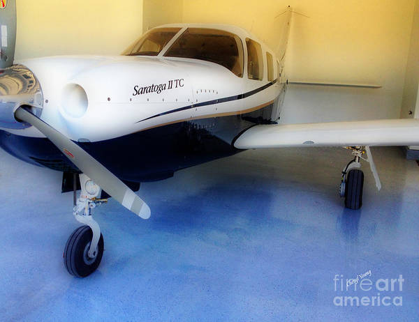Piper Saratoga Poster featuring the photograph Piper Saratoga by Cheryl Young