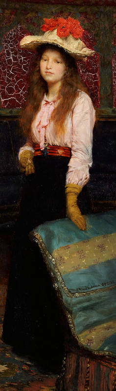 Portrait Of Miss Macwirter Poster featuring the painting Portrait Of Miss Macwirter by Sir Lawrence Alma-Tadema