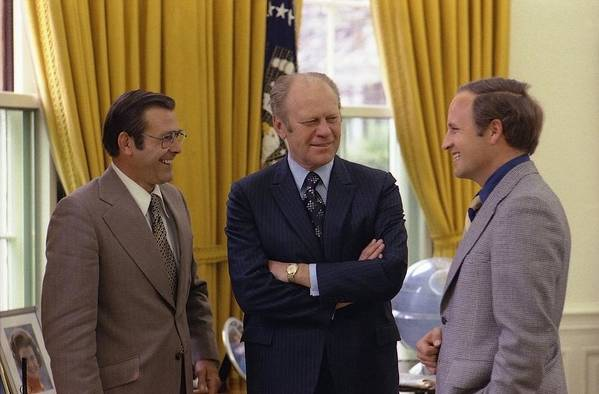History Poster featuring the photograph President Ford With Perennial by Everett