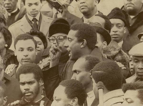 History Poster featuring the photograph Profile Of Stokely Carmichael Speaking by Everett