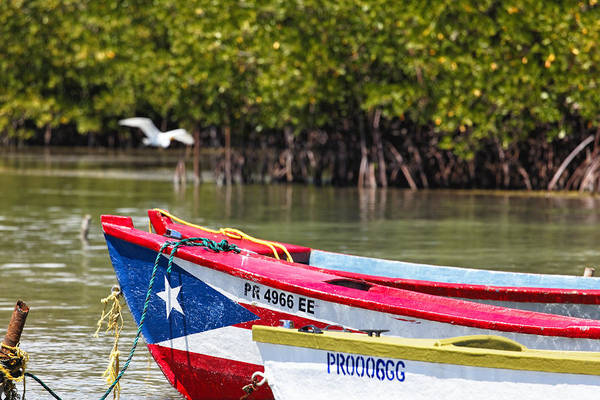 Guanica Poster featuring the photograph Puerto Rican Fishing Boats by George Oze