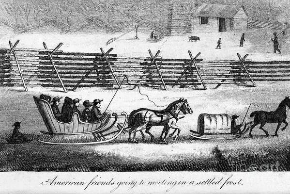 1811 Poster featuring the photograph Quakers Going To Meeting by Granger