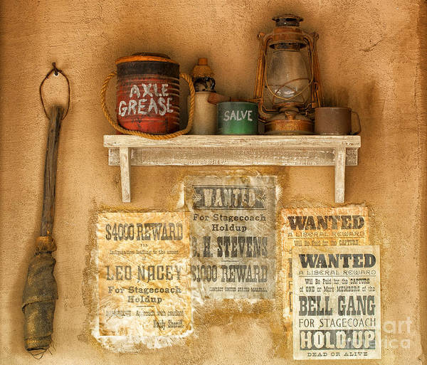 Southwest Poster featuring the photograph Relics Of The Old West by Sandra Bronstein