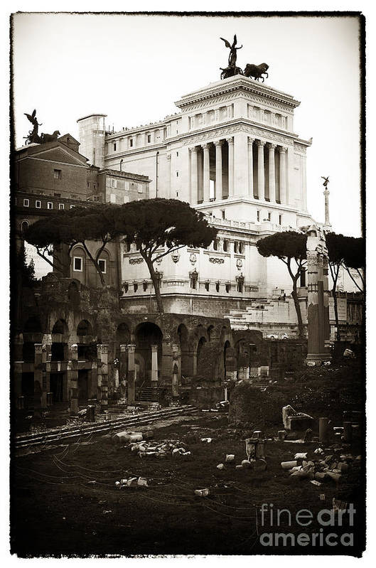 Roman Ruins Poster featuring the photograph Roman Ruins by John Rizzuto