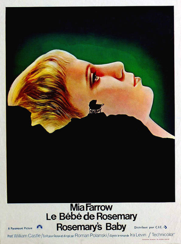 1960s Portraits Poster featuring the photograph Rosemarys Baby, Aka Le Bebe De by Everett