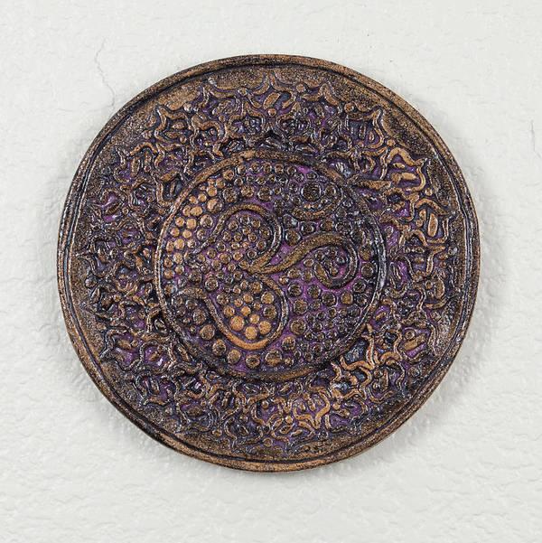 Jamie Gunn Poster featuring the ceramic art Sahasrara Crown Chakra Plate by Jaimie Gunn