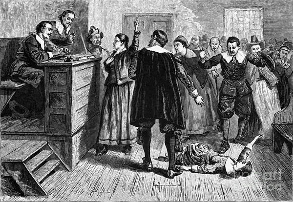 History Poster featuring the photograph Salem Witch Trials, 1692-93 by Photo Researchers