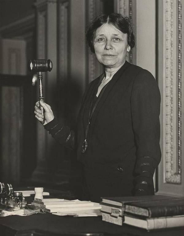 History Poster featuring the photograph Senator Hattie W. Caraway, Democrat by Everett