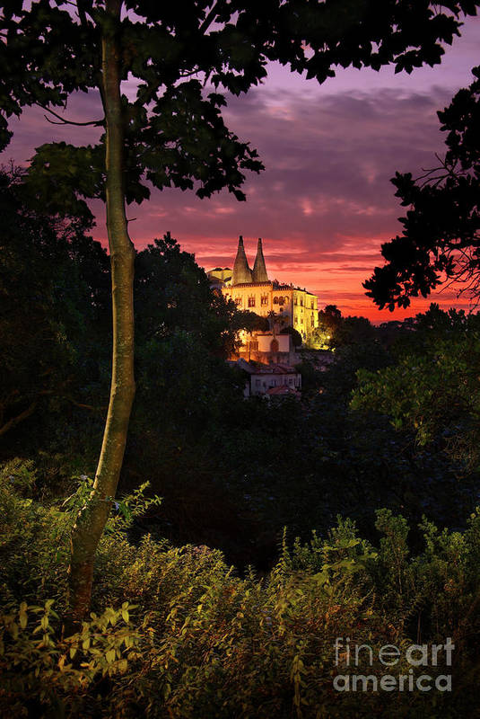 Ancient Poster featuring the photograph Sintra Palace by Carlos Caetano