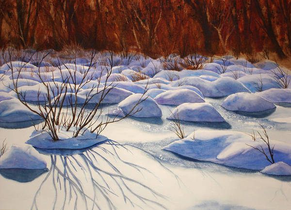 Snow Poster featuring the painting Snow Mounds by Daydre Hamilton