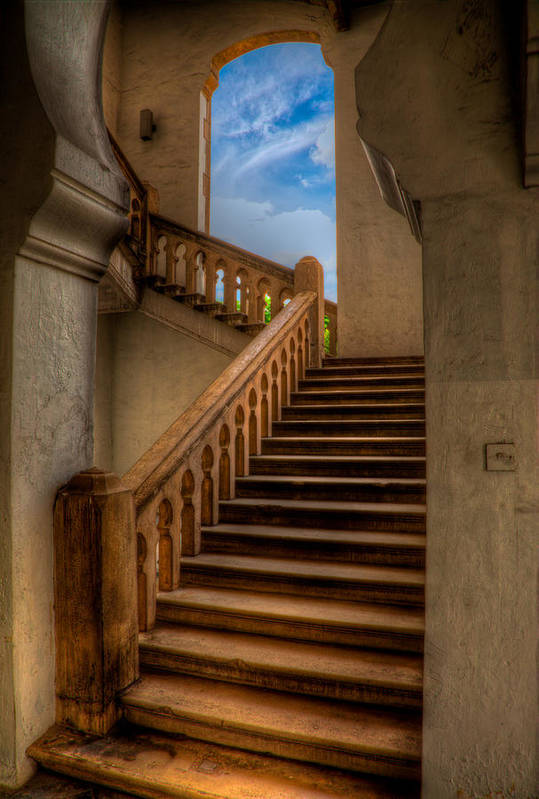 Architecture Poster featuring the photograph Stairway To Heaven by Adrian Evans