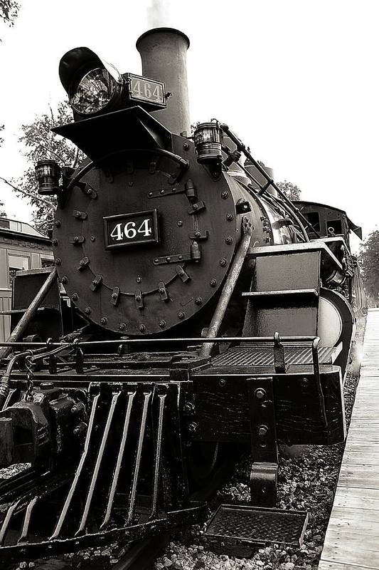 Train Poster featuring the photograph Steam Engine 464 by Scott Hovind