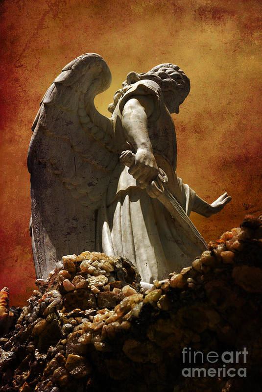 Angel Poster featuring the photograph Stop In The Name Of God by Susanne Van Hulst