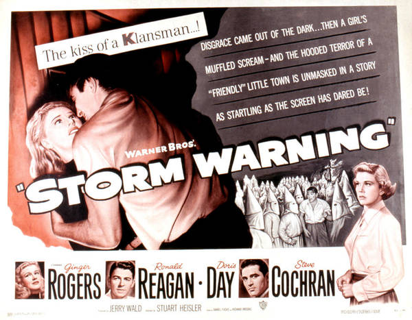 1950 Movies Poster featuring the photograph Storm Warning, Ginger Rogers, Steve by Everett