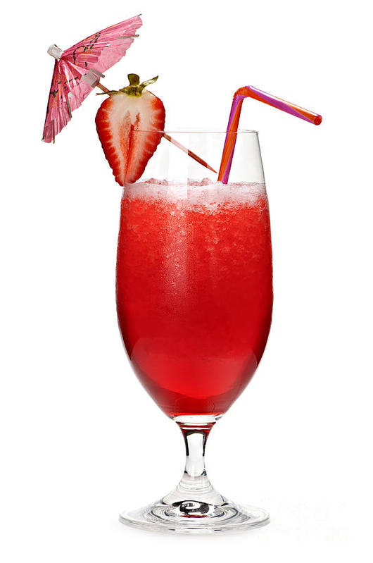 Strawberry Poster featuring the photograph Strawberry Daiquiri by Elena Elisseeva