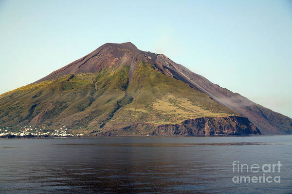 Aeolian Islands Poster featuring the photograph Stromboli Volcano, Aeolian Islands by Richard Roscoe