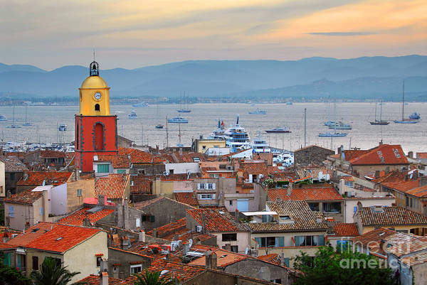 Tropez Poster featuring the photograph St.tropez At Sunset by Elena Elisseeva