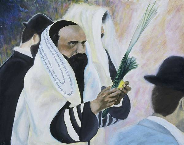 Fine Art Poster featuring the painting Sukkot by Iris Gill