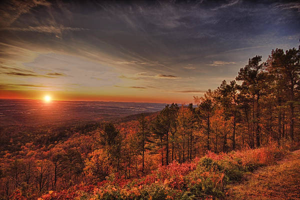 Sunrise Poster featuring the photograph Sunrise 2-talimena Scenic Drive Arkansas by Douglas Barnard