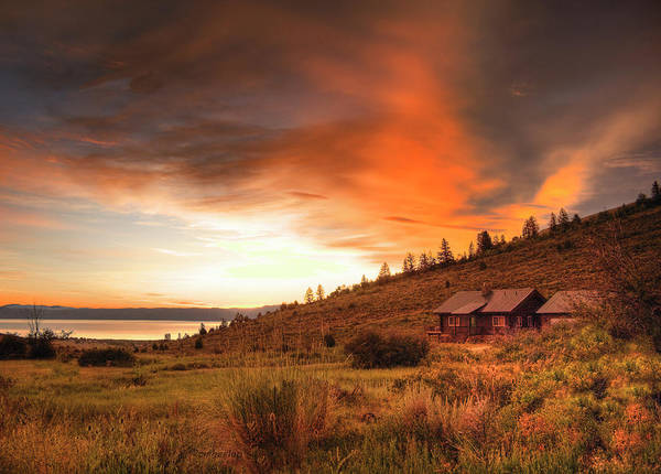 Horizontal Poster featuring the photograph Sunrise At Bear Lake by Charlene Heslop