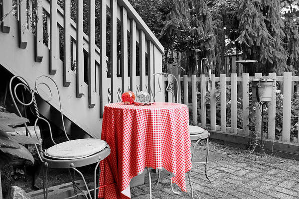 Still Life Poster featuring the photograph Table And Chairs by Frank Nicolato
