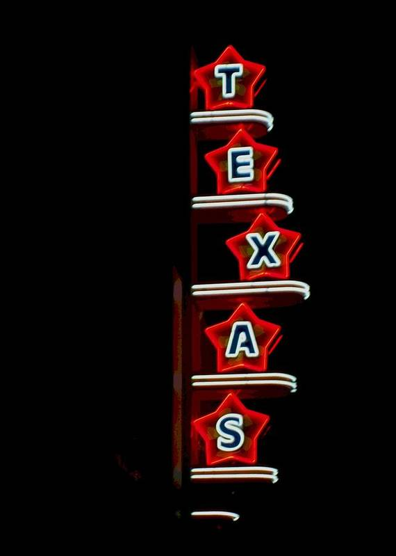 Pop Art Poster featuring the photograph Texas Theater by Kitty Geno