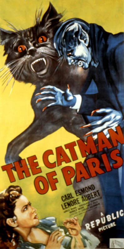 1940s Movies Poster featuring the photograph The Catman Of Paris, 1946 by Everett