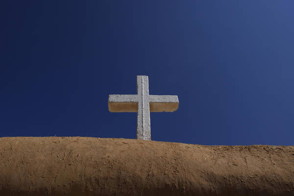 Outdoors Poster featuring the photograph The Cross Above Saint Francis Catholic by Raul Touzon