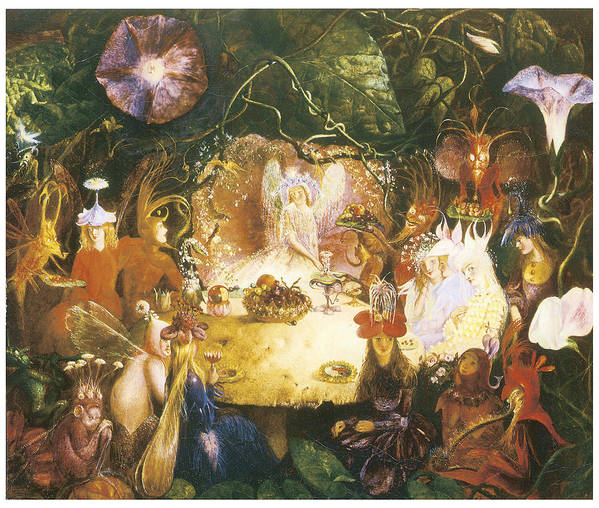 John Anster Fitzgerald Poster featuring the painting The Fairies Banquet by John Anster Fitzgerald
