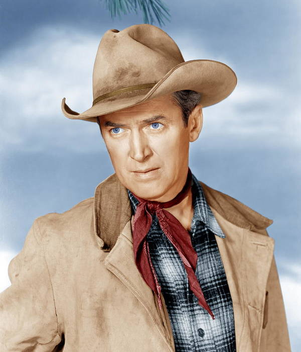 1950s Portraits Poster featuring the photograph The Far Country, James Stewart, 1954 by Everett