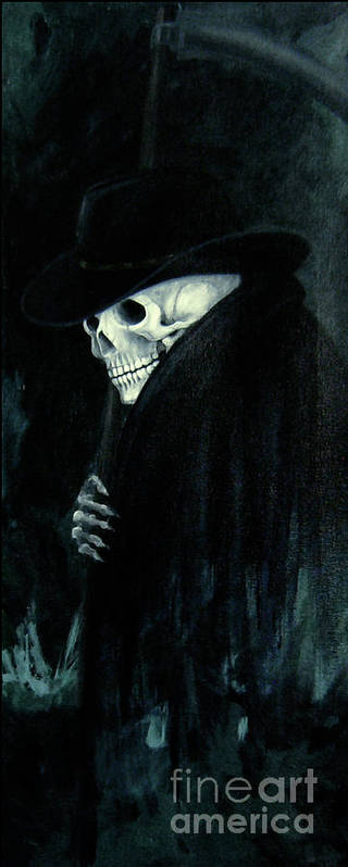 Grim Reaper Poster featuring the painting The Grim Reaper by Barbara Marcus