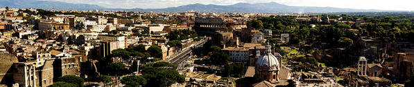 View Poster featuring the photograph The Historic Centre Of Rome by Fabrizio Troiani