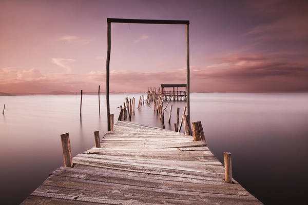 Pier Poster featuring the photograph The Passage To Brightness by Jorge Maia